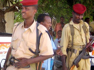 The Somali police were trained in Ethiopia, funded by Germany
