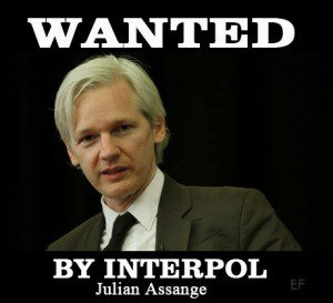 Interpol is looking for Wikileak's founder Julian Assange as USA cuts access to files