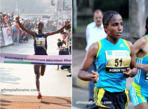 Ethiopians shines in Mumbai Marathon by Breaking Records in Both Men's and Woman's