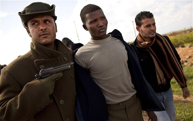 African mercenary in Libya