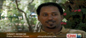 CNN featured Ethiopian Jailed Journalist Dawit Kebede (Video)