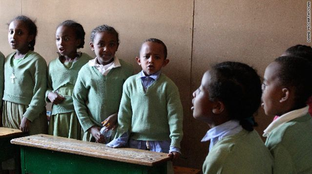 Ethiopian school that feed body and mind