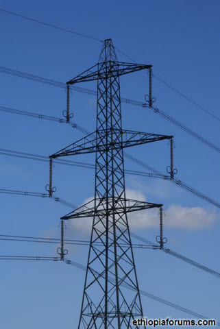 Ethiopia-high-tension-power-transmission-line