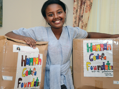 Hannah Godefa started collecting pencils for children in Ethiopia in 2005.