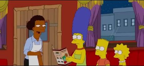The-simpsons-in-Ethiopian-restaurant