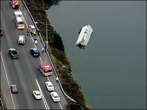 Truck Crashed and Landed in River in Seattle. Driver Survived