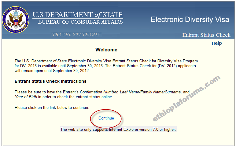 How to check DV Lottery status on DVLottery.state.gov ...