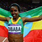 Ethiopian Tirunesh Dibaba Won the First Gold and Defend Her Title in London Olympics