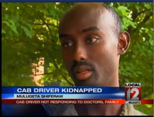 Cab driver kidnapped Mulugeta shiferaw