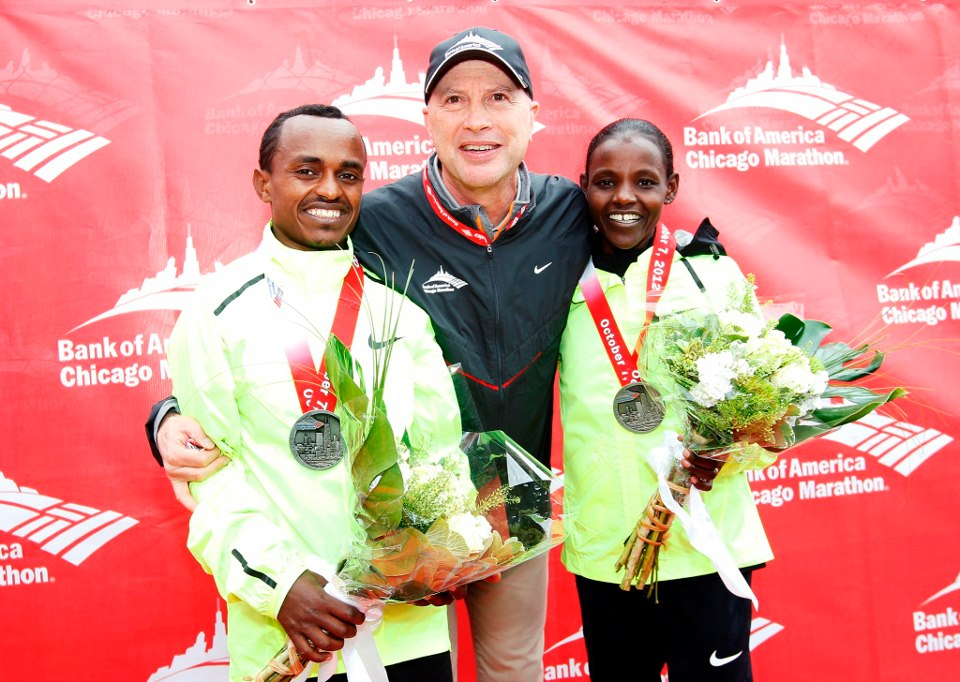 Tsegaye Kebede and atsede baysa won chicago 2012 marathon