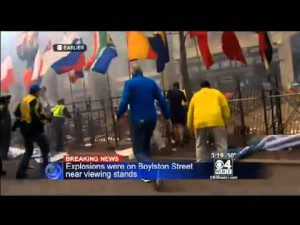 Explosions reported at Boston Marathon finish line