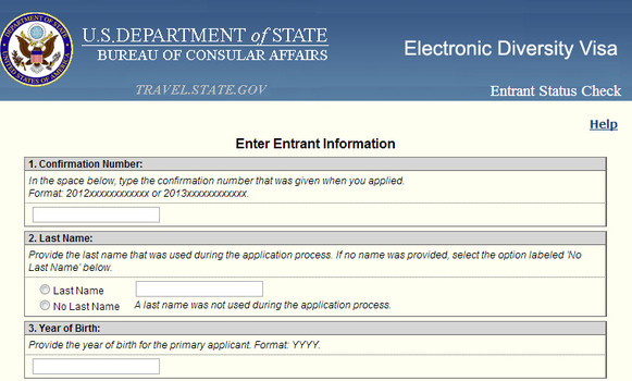DV-2014 DV Lottery : Green card lottery entrant status check begins