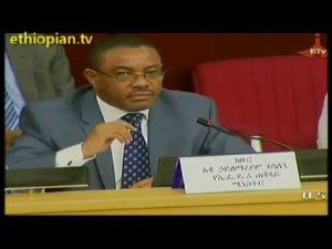 Ethiopian PM Hailemariam Desalegn Holds Discussion With Investors