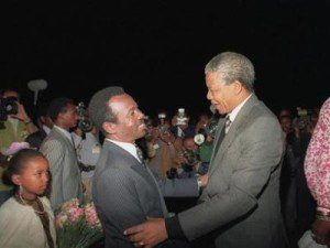 Mengistu HaileMariam Interview About Nelson Mandela and Ethiopia (AUDIO)
