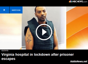 Breaking News – Wossen Assaye  Virginia Escaped Prisoner Arrested in DC (Video)