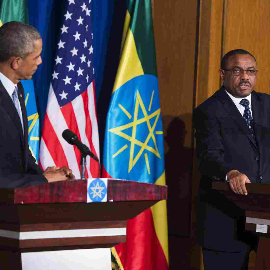 "At a 2015 press conference with President Obama in Addis Ababa, Ethiopian Prime Minister Hailemariam Desalegn asked the foreign press corps to ""help our journalists to increase their capacity."""
