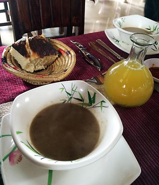 "HEALTHY diet of Ethiopians can be gleaned from their wheat bread, lentil soup and ""tej,"" native honey wine. LITO B. ZULUETA"