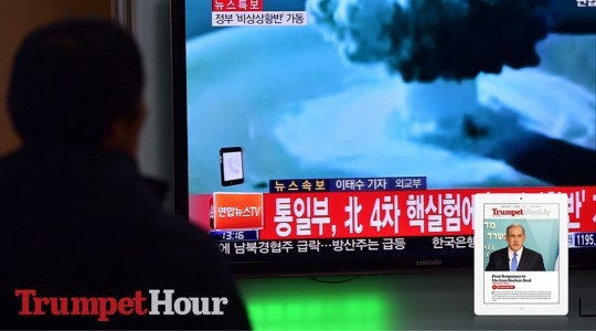 People watch a news report on North Korea's hydrogen bomb test.(JUNG YEON-JE/AFP/Getty Images)