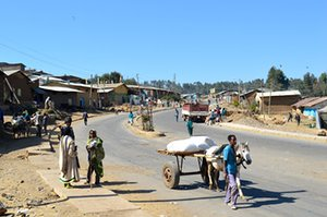 Amba Giorgis town in the North Gondar district of Ethiopia's Amhara region