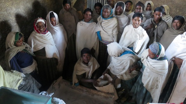 A new grain mill saves the women in the village of Bargata from having to grind wheat grain into flour by hand using a ...