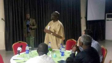 Bayo Onanuga, MD, News Agency of Nigeria speaking during the event.