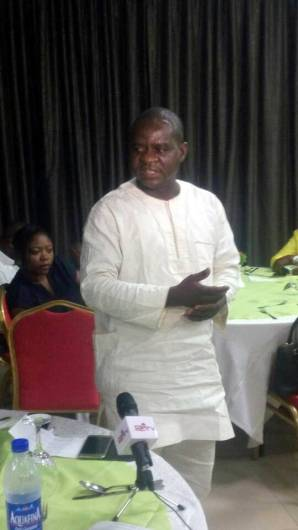 Musikilu Mojeed, Editor-in-Chief, Premium Times giving his closing remark.