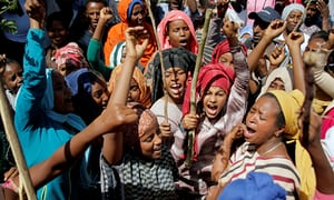 Supporters of Bekele Gerba, secretary general of the Oromo Federalist Congress (OFC), chant slogans to celebrate Gerba's release from prison