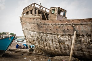 The fishing village of Tadjoura, a hub for Ethiopian migrants crossing to wartorn Yemen, and for Yemeni refugees fleeing in the other direction