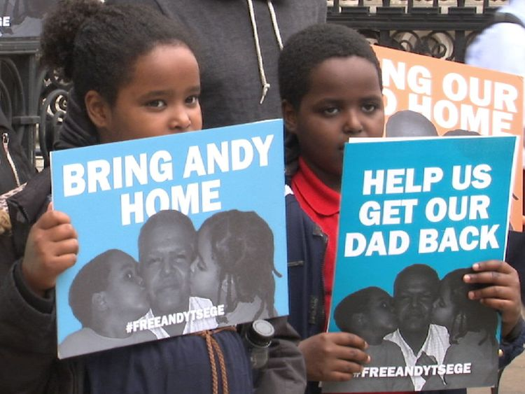 Protest again imprisonment of Andy Tsege