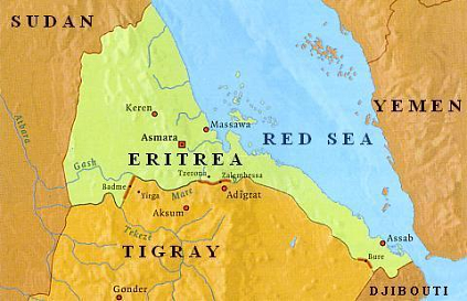 Map of Tigray