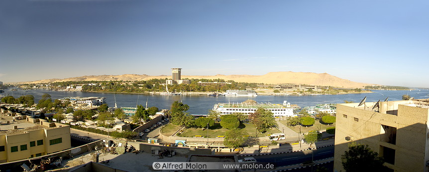 A view of Assuan and Nile river