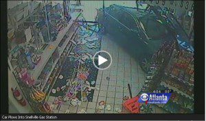 Atlanta gas station accident video
