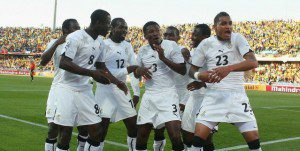 Ghana players at world cup 2010