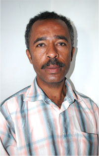 Ethiopian journalist Girum T.Haimanot, fled his country in 2005 to yemen