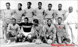 Mengistu with the Ethiopian national team that won the 3rd African Cup (1962)