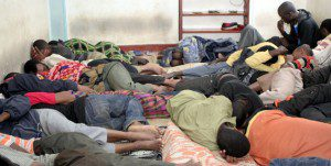 Illegal immigrants from Ethiopia crowded inside a single room at a house in Ngong Town on June 23, 2010. Photo/FILE