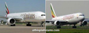ethiopian-airlines boing 777 and Emirates airlines accident