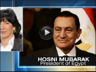 Hosni Mubarak Meets With Christiane Amanpour