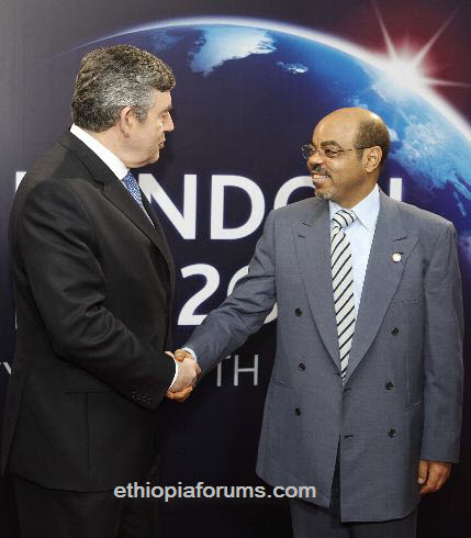 UK-and-Ethiopia-Meles Zenawi-Gordon-Brown