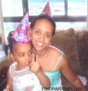 Seble Tessema and her daughter Eden