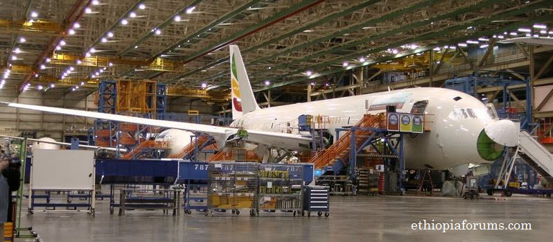 Boeing building a 787 dreamliner for Ethiopian Airlines