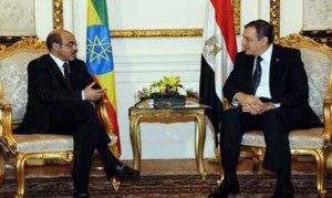 Egypt's Prime Minister Essam Sharaf and his Ethiopian counterpart Meles Zenawi in Cairo September 17, 2011Egypt's Prime Minister Essam Sharaf and his Ethiopian counterpart Meles Zenawi in Cairo September 17, 2011