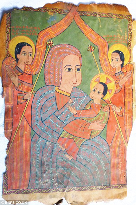 The rare 14th century depiction of the Virgin Mary