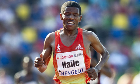 Haile Gebrselassie runs in the 10,000m at the Fanny Blankers-Koen Games in Hengelo