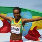 She did it again! Genzebe Dibaba won the women's 3000m final at the 2014 World Indoor Championship