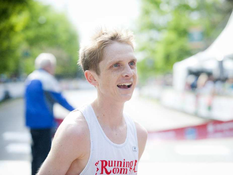 Lucas McAneney was the second Canadian male to finish the marathon at Tamarack Ottawa Race Weekend, Sunday, May 24, 2015.