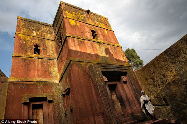 At Lalibela you can visit 12th Century churches hacked out of the rock – like Petra, only less well-known