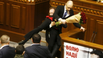 Quick Hit: Brawl Erupts in Ukraine's Parliament