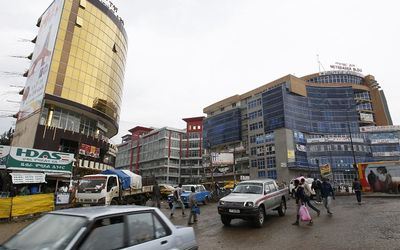 People walk through the streets of a shopping area in Addis Ababa, Ethiopia, in this May 26 2014 file photo.  Picture: REUTERS