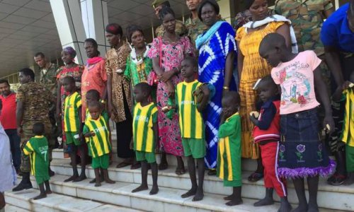 Rescued abducted Ethiopian kids by Murle community in South Sudan